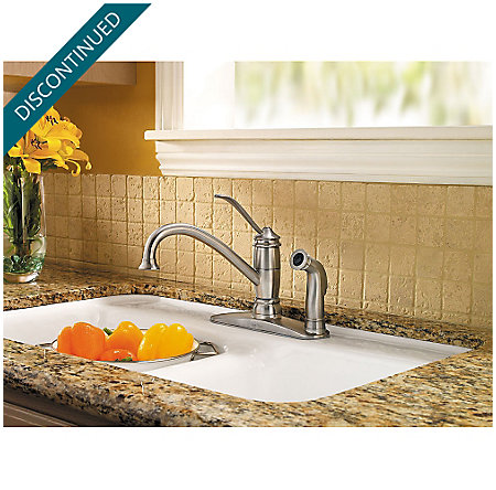 Stainless Steel Brookwood 1-Handle Kitchen Faucet - F-034-3ALS - 2