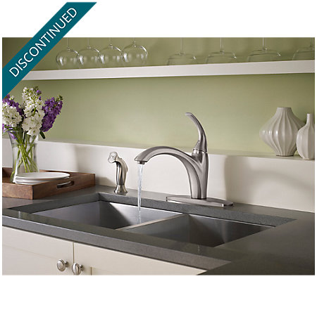 Stainless Steel Selia 1-Handle Kitchen Faucet - F-034-4SLS - 4