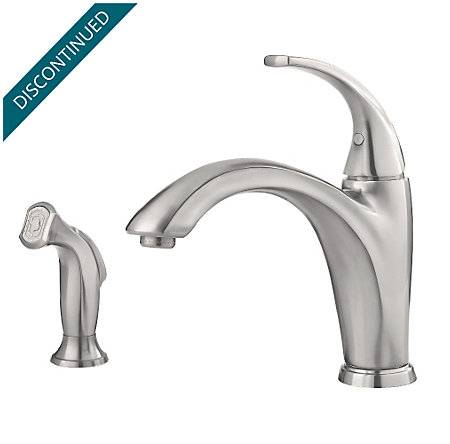 Stainless Steel Selia 1-Handle Kitchen Faucet - F-034-4SLS - 1