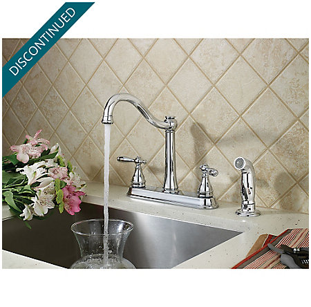 Polished Chrome Ainsley 2-Handle Kitchen Faucet - F-036-4AYC - 2