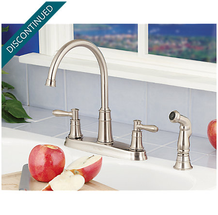 Stainless Steel Harbor 2-Handle Kitchen Faucet - F-036-CL4S - 2