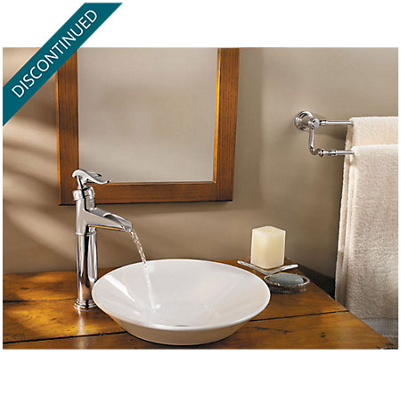 Polished Chrome Ashfield Single Handle Vessel Faucet - F-M40-YP0C - 2