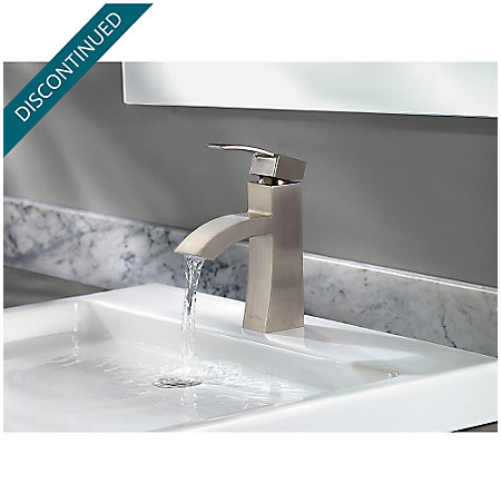 Brushed Nickel Bernini Single Control, Centerset Bath Faucet - F-042-BNKK - 5
