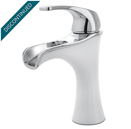 Polished Chrome / White Jaida Single Control, Centerset Bath Faucet - F-042-JDCW - 1