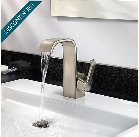 Brushed Nickel Skye Single Control, Centerset Bath Faucet - F-042-SYKK - 4