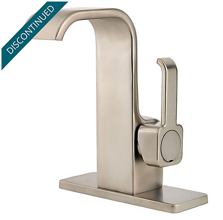 Brushed Nickel Skye Single Control, Centerset Bath Faucet - F-042-SYKK - 2