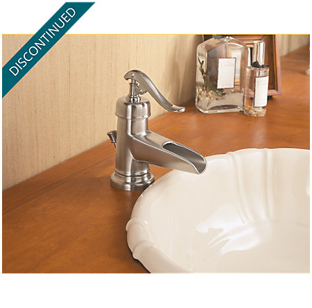 Brushed Nickel Ashfield Single Control, Centerset Bath Faucet - F-042-YP0K - 5