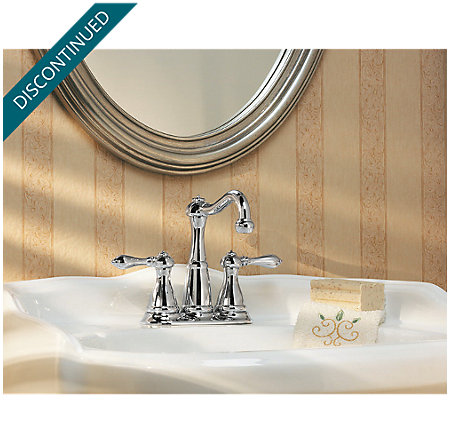Polished Chrome Marielle Centerset Bath Faucet - F-046-M0BC - 4