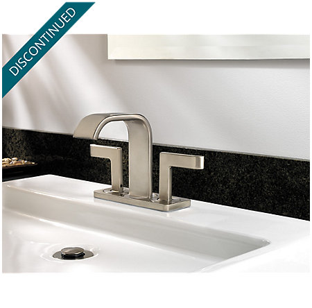 Brushed Nickel Skye 2-Handle Mini-Widespread Bath Faucet - LF-046-SYKK - 4