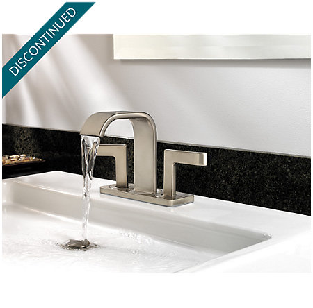 Brushed Nickel Skye 2-Handle Mini-Widespread Bath Faucet - LF-046-SYKK - 5