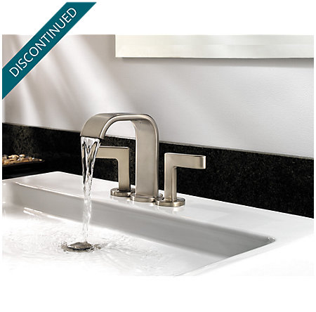 Brushed Nickel Skye 2-Handle Mini-Widespread Bath Faucet - LF-046-SYKK - 6
