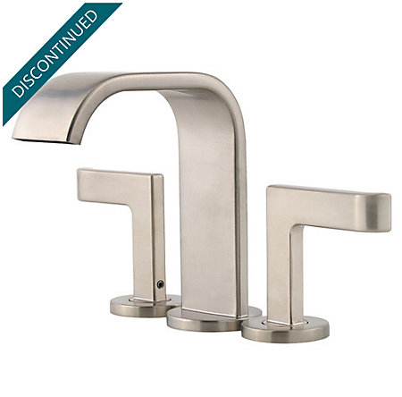 Brushed Nickel Skye 2-Handle Mini-Widespread Bath Faucet - LF-046-SYKK - 1