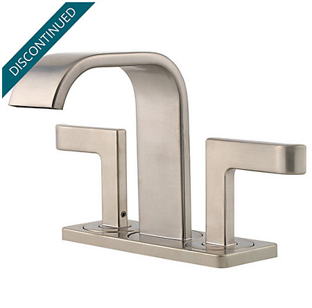 Brushed Nickel Skye 2-Handle Mini-Widespread Bath Faucet - LF-046-SYKK - 2