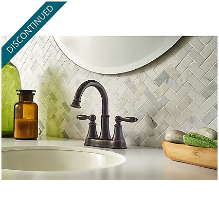 Tuscan Bronze Courant Centerset Bath Faucet - F-048-COYY - 2