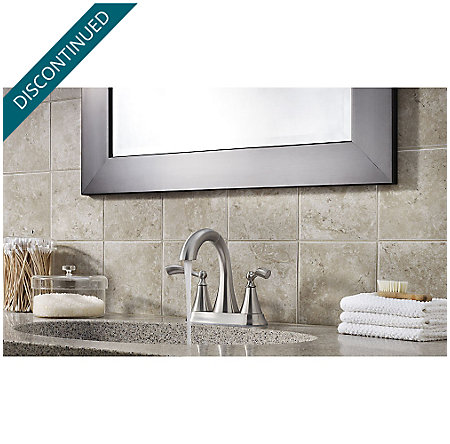Brushed Nickel Grandeur Centerset Bath Faucet - F-548-GDKK - 5