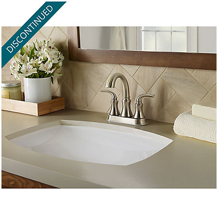 Brushed Nickel Solita Centerset Bath Faucet - F-048-SOKK | Pfister ...