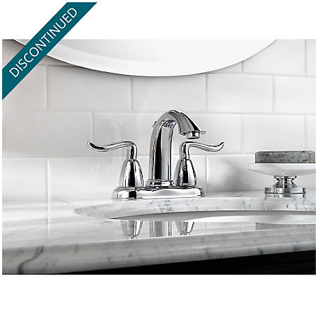 Polished Chrome Santiago Centerset Bath Faucet - F-048-ST0C - 2
