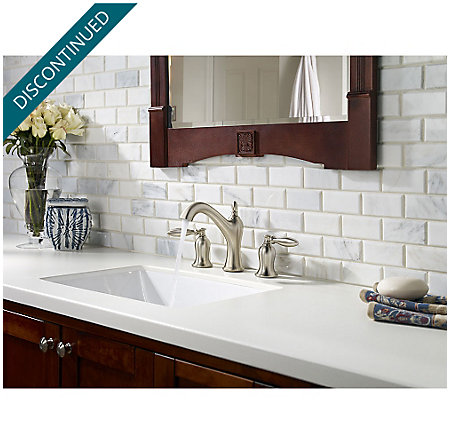 Brushed Nickel Arlington Widespread Bath Faucet - F-049-ARKK - 3
