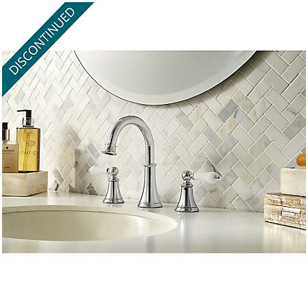 Polished Chrome Courant Widespread Bath Faucet - F-049-COPC - 2