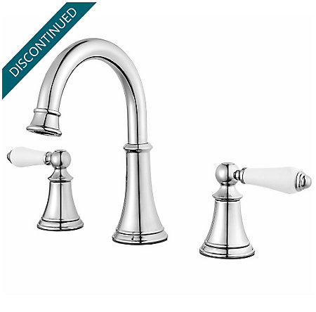 Polished Chrome Courant Widespread Bath Faucet - F-049-COPC - 1