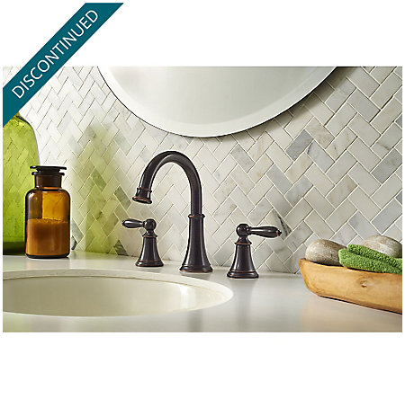 Tuscan Bronze Courant Widespread Bath Faucet - F-049-COYY - 2