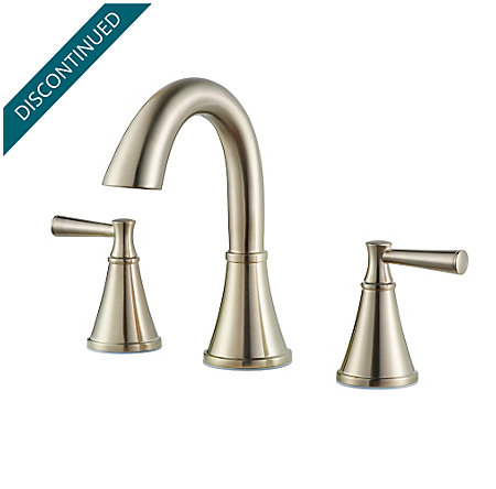 Brushed Nickel Cantara Widespread Faucet - F-049-CRKK - 1