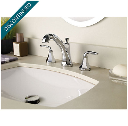 Polished Chrome Designer Widespread Bath Faucet - F-049-DECC - 2