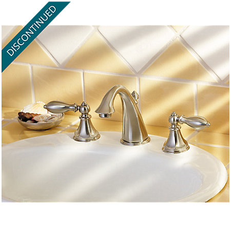 Brushed Nickel Catalina Widespread Bath Faucet - F-049-E0BK - 3