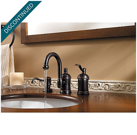Tuscan Bronze Amherst Widespread Bath Faucet - F-049-HA1Y - 5