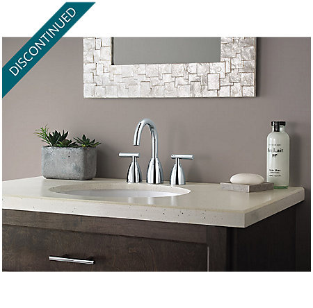 Polished Chrome Contempra Widespread Bath Faucet - F-049-NC00 - 3