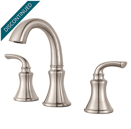 Brushed Nickel Solita Widespread Bath Faucet - F-049-SOKK - 1