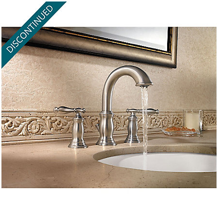 Brushed Nickel Hanover Widespread Bath Faucet - F-049-TMKK - 3