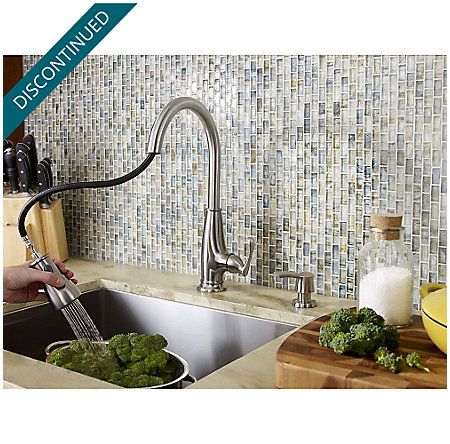 Stainless Steel Ainsley 1-Handle, Pull-Down Kitchen Faucet - F-529-7AYS - 6
