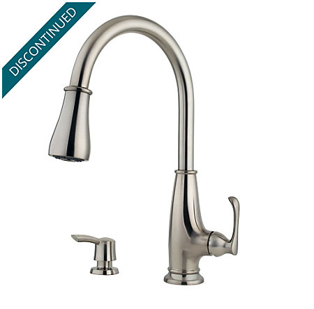 Stainless Steel Ainsley 1-Handle, Pull-Down Kitchen Faucet - F-529-7AYS - 1