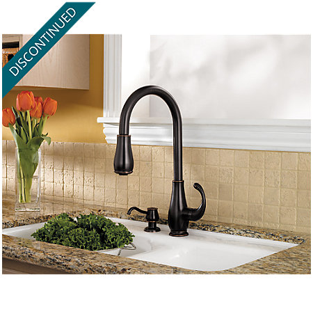Tuscan Bronze Treviso 1-Handle, Pull-Down Kitchen Faucet - F-529-7DYY - 2