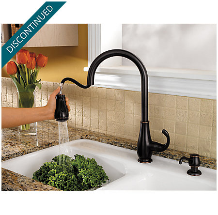 Tuscan Bronze Treviso 1-Handle, Pull-Down Kitchen Faucet - F-529-7DYY - 3