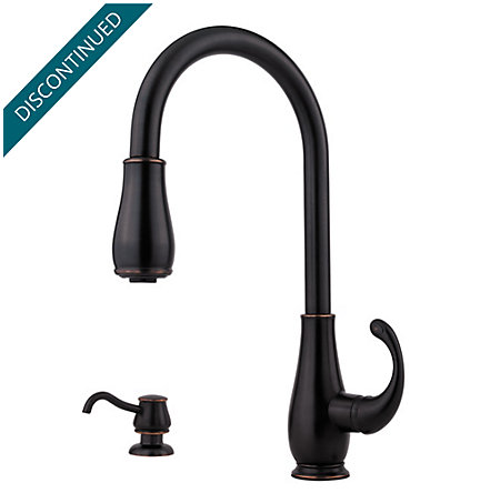 Tuscan Bronze Treviso 1-Handle, Pull-Down Kitchen Faucet - F-529-7DYY - 1
