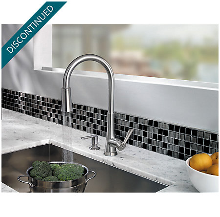 Stainless Steel Mystique 1-Handle, Pull-Down Kitchen Faucet - F-529-7MDS - 4