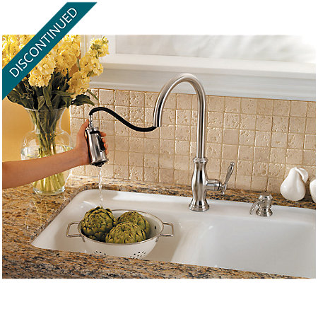 Stainless Steel Hanover 1-Handle, Pull-Down Kitchen Faucet - F-529-7TMS - 4