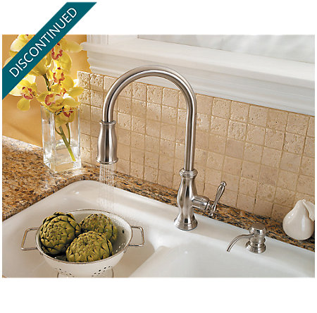 Stainless Steel Hanover 1-Handle, Pull-Down Kitchen Faucet - F-529-7TMS - 5