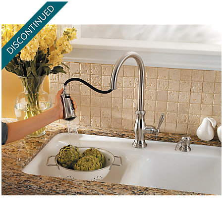 Stainless Steel Hanover 1-Handle, Pull-Down Kitchen Faucet - F-529-7TMS - 8