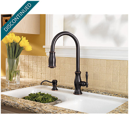 Tuscan Bronze Hanover 1-Handle, Pull-Down Kitchen Faucet - F-529-7TMY - 4