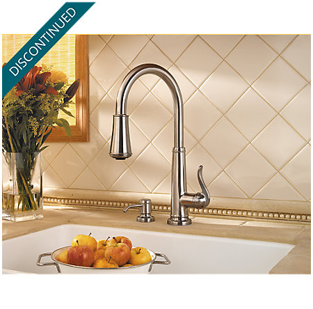 Stainless Steel Ashfield 1-Handle, Pull-Down Kitchen Faucet - F-529-7YPS - 4