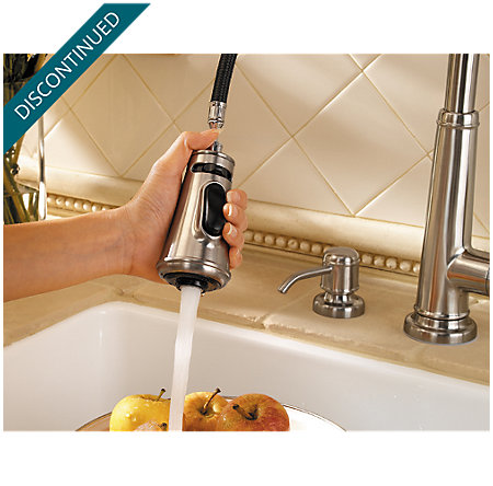 Stainless Steel Ashfield 1-Handle, Pull-Down Kitchen Faucet - F-529-7YPS - 7
