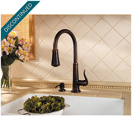 Rustic Bronze Ashfield 1-Handle, Pull-Down Kitchen Faucet - F-529-7YPU - 4