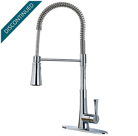 Polished Chrome Mystique 1-Handle Pull-Down Kitchen Faucet - F-529-9MDC - 1