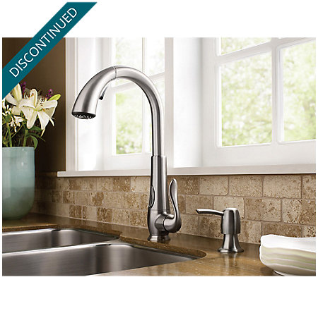 Stainless Steel Elevate 1-Handle, Pull-Down Kitchen Faucet - F-529-ADRS - 3