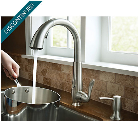 Stainless Steel Elevate 1-Handle, Pull-Down Kitchen Faucet - F-529-ADRS - 5