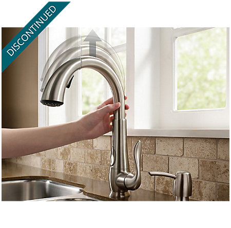 Stainless Steel Elevate 1-Handle, Pull-Down Kitchen Faucet - F-529-ADRS - 9