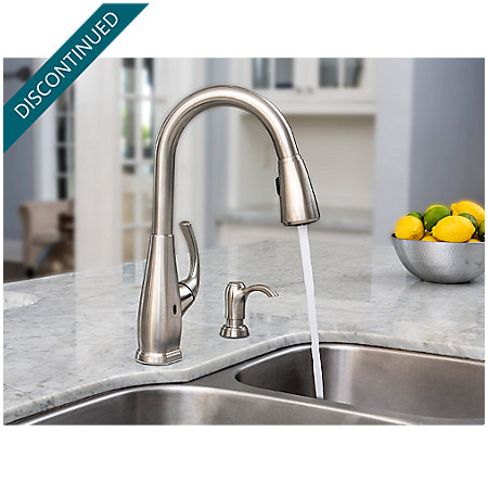 Stainless Steel Selia Touch-Free Pull-Down Kitchen Faucet with React™ - F-529-ESLS - 5